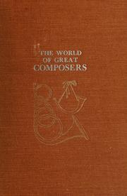Cover of: The world of great composers