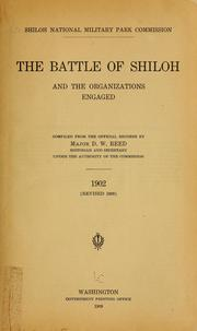 Cover of: The battle of Shiloh and the organizations engaged