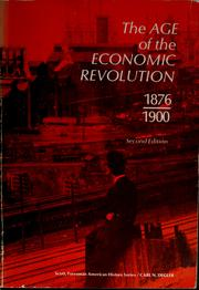 The age of the economic revolution, 1876-1900 by Carl N. Degler