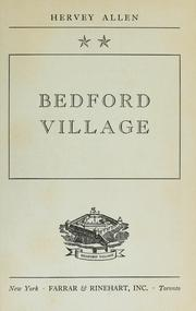 Cover of: Bedford Village