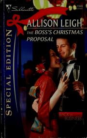 Cover of: The boss's Christmas proposal