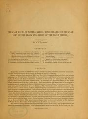 Cover of: The cave fauna of North America