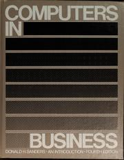 Cover of: Computers in business