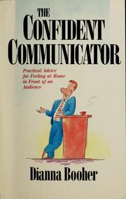 Cover of: The confident communicator