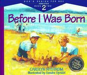 Cover of: Before I was born