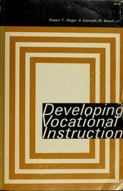 Cover of: Developing vocational instruction
