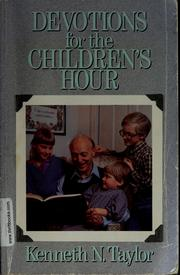 Cover of: Devotions for the children's hour
