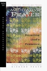 Cover of: Meditative Prayer