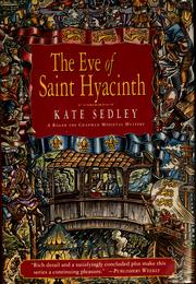 Cover of: The eve of Saint Hyacinth by Kate Sedley