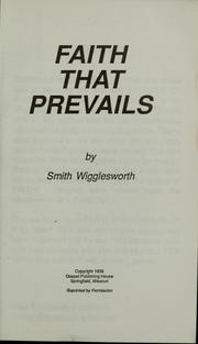 Cover of: Faith that prevails