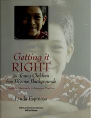 Cover of: Getting it RIGHT for young children from diverse backgrounds