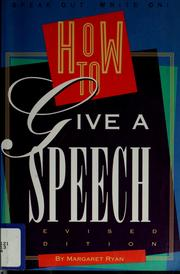 Cover of: How to give a speech