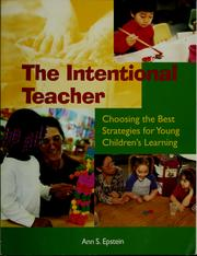 Cover of: The intentional teacher