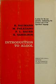 Cover of: Introduction to ALGOL | Richard Baumann
