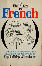 Cover of: An invitation to French