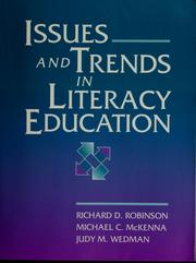 Cover of: Issues and trends in literacy education