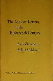 Cover of: The lady of letters in the eighteenth century