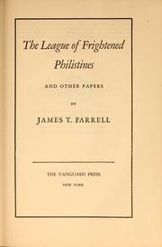 Cover of: The league of frightened Philistines