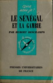 Cover of: Le Sénégal et la Gambie