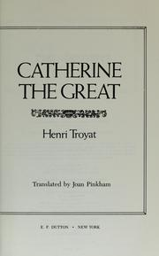 Cover of: Catherine la Grande