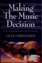 Cover of: Making the music decision