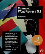 Cover of: Mastering WordPerfect 5.1