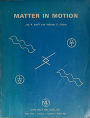 Cover of: Matter in motion