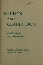 Cover of: Milton and Clarendon