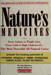Cover of: Nature's medicines