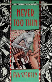 Cover of: Never too thin