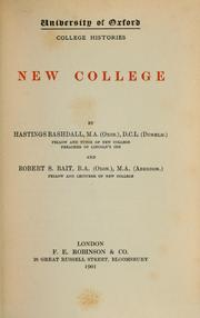 Cover of: New College