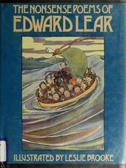 Cover of: The nonsense poems of Edward Lear