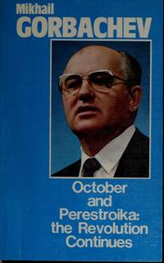 Cover of: October and perestroika