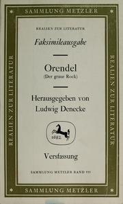 Cover of: Orendel (Der Graue Rock)