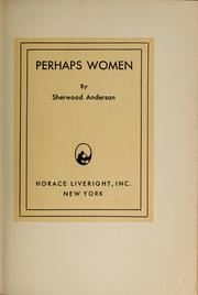 Cover of: Perhaps women