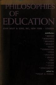Cover of: Philosophies of education | Philip Henry Phenix
