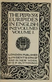 Cover of: The plays of Euripides in English | Euripides