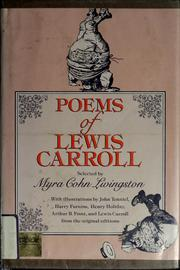 Cover of: Poems of Lewis Carroll