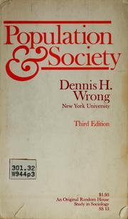 Cover of: Population and society | Dennis Hume Wrong