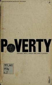 Cover of: Poverty; selected readings