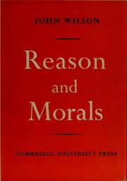 Cover of: Reason and morals
