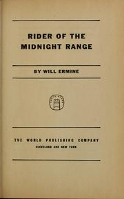 Cover of: Rider of the Midnight Range | Will Ermine