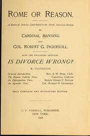 Cover of: Rome or reason
