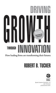 Cover of: Driving Growth Through Innovation | Robert B. Tucker