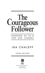 Cover of: The Courageous Follower | Ira Chaleff