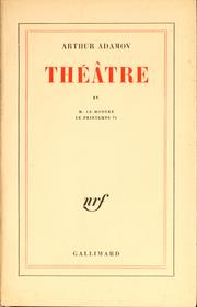 Cover of: Théâtre IV