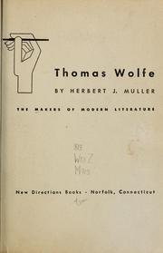 Cover of: Thomas Wolfe