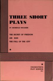 Cover of: Three short plays