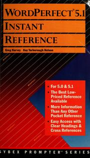Cover of: WordPerfect 5.1 instant reference