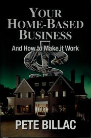 Cover of: Your home-based business